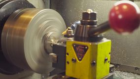 CNC milling machine at work. Close up CNC milling machine at work stock video footage