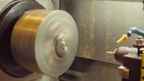 CNC milling machine at work. Close up CNC milling machine at work stock video