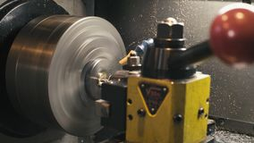 CNC milling machine at work. Close up CNC milling machine at work stock footage