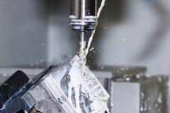 CNC - moliendo Imagen de archivo libre de regalías