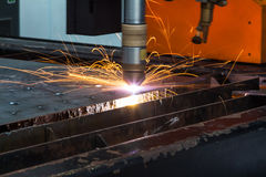 CNC plasma cutting Royalty Free Stock Images