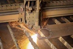 CNC plasma cutting machine during operation. royalty free stock images