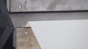 CNC press brake abcant bending stock footage