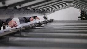 CNC Press Brake Abcant Bending stock video footage