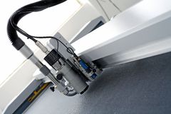 CNC router. Arm and cutting head of digital cnc router Royalty Free Stock Images