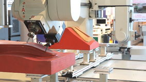 CNC Router and Machining Center at woodworking and furniture Industry. stock footage