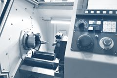 CNC tokarka fotografia stock