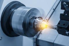 CNC tokarska maszyna lub kręcenie maszyna Zdjęcie Royalty Free