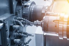 CNC tokarska maszyna lub kręcenie maszyna Obraz Stock