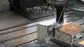 Cnc turning machine in work - production in industry - details. Video stock video