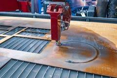 CNC water jet cutting machine. Modern industrial technology stock photos