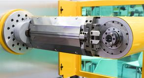CNC wire bending machine ;. Close up Royalty Free Stock Photos
