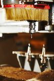 Cnc wood cutting cutter, machine with numerical control. Cnc wood cutting cutter. Machine with numerical control, various router bits stock photography