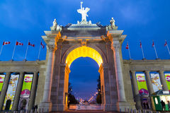 The CNE Arch in Toronto Royalty Free Stock Photo
