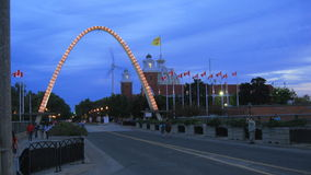 CNE Entrance Arch Time-Lapse stock video footage