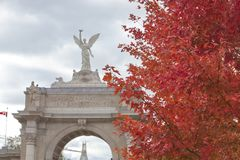 CNE maim entrance arch in Toronto. View of main entrance to the CNE, Toronto, Ontario Royalty Free Stock Photography