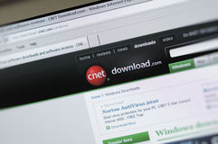 CNET.com main internet page Royalty Free Stock Photography