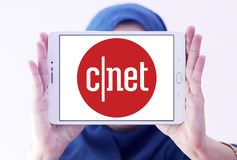CNET strony internetowej medialny logo fotografia stock