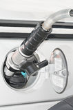 Cng. Fuel refueling compressed natural gas car Royalty Free Stock Photography