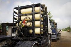 cng benzynowa ciężka ngv zbiorników ciężarówka Obrazy Royalty Free