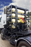 CNG gas containers for heavy truck royalty free stock photography
