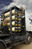 CNG/NGV gas tanks for heavy truck Royalty Free Stock Image