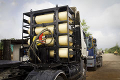 CNG / NGV gas tanks for heavy truck Royalty Free Stock Images