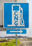 CNG Sign Royalty Free Stock Image