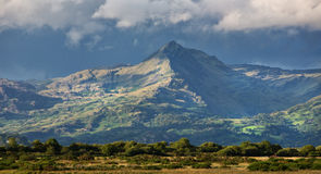 Cnicht. Is a mountain in Snowdonia which forms part of the Moelwynion mountain range. Its appearance when viewed from the south-west, i.e. from the direction of stock photo