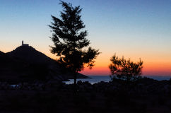 Cnidos på solnedgången Royaltyfri Bild