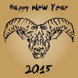 Cninese new year 2015 wooden goat Royalty Free Stock Photography