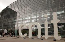 CNIT-Mitte von neuen Industrien und von Technologien Stockbild