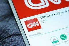 CNN κινητό app Στοκ φωτογραφίες με δικαίωμα ελεύθερης χρήσης