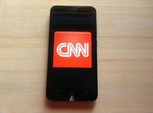 CNN app στοκ φωτογραφίες με δικαίωμα ελεύθερης χρήσης