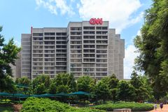 CNN Atlanta Center, Geórgia Foto de Stock Royalty Free
