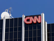 CNN Building Exterior Stock Photo