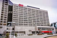 CNN Center headquarter in downtown Stock Image
