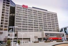 CNN-Centrumhoofdkwartier binnen de stad in Stock Afbeelding