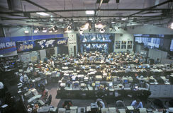 CNN-het Netwerkmedia van het Kabelnieuws/redactiekamer, Atlanta, Georgië royalty-vrije stock foto's