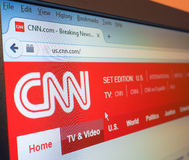 CNN Home Page Royalty Free Stock Photos