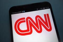 CNN logo na smartphone obrazy stock