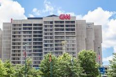 CNN que construye Atlanta Imágenes de archivo libres de regalías