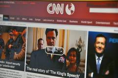 CNN-Web site Lizenzfreies Stockbild