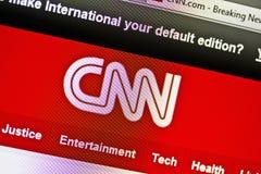 cnn-website Arkivfoto