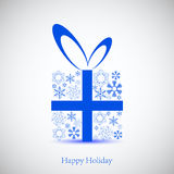 Cnowflakes gift for your holiday. Stock Images
