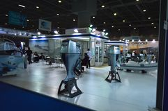 The most comprehensive and largest meeting of the maritime sector Istanbul 14. Cnr Eurasia Boat Show 2019 opened its doors splendi. Cnr Expo held in Yesilkoy 14 royalty free stock image
