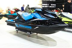 The most comprehensive and largest meeting of the maritime sector Istanbul 14. Cnr Eurasia Boat Show 2019 opened its doors splendi. Cnr Expo held in Yesilkoy 14 stock photo