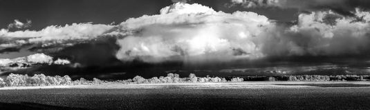Cntrast infrared landscape, countryside view Royalty Free Stock Image