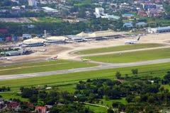 Cnx, Chiang mai international airport. Bird eye view Royalty Free Stock Photos