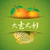 CNY Rich applique illustration Stock Images